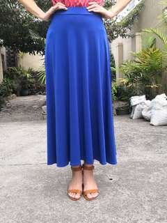 Electric Blue Long Skirt