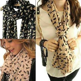 ONHAND Scarf  Cat Print