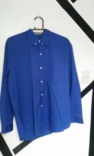 Blue longsleeves polo