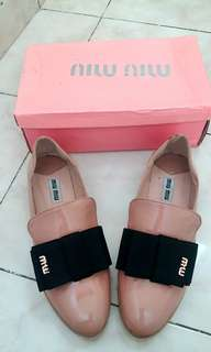Miu Miu Flat Shoes, size 40 fit to 39
