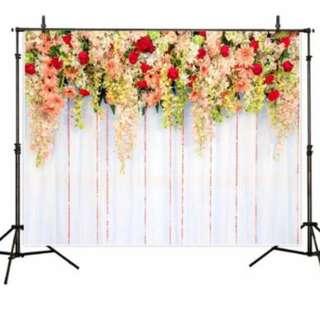 Wedding Floral Photobooth Backdrop
