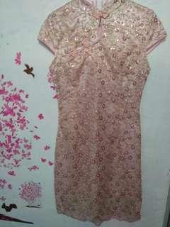 Cheongsam baby pink