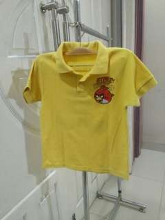 Kaos angry bird yellow 4-5yo #mausupreme