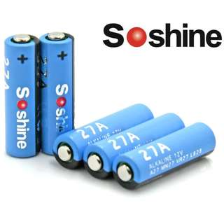 {MPower} Soshine 27A Alkaline Battery 12V 鹼性 電池 ( A27, MN27, VR27, L828 ) - 原裝正貨