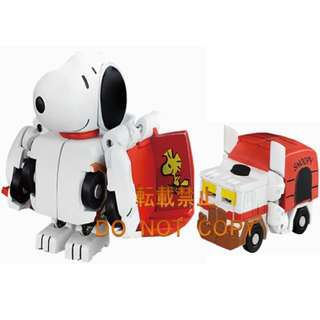 Transformers Q QTC-05 Snoopy & QTC-06 My Melody MOSC