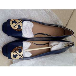 Tory burch royal blue flats doll shoes
