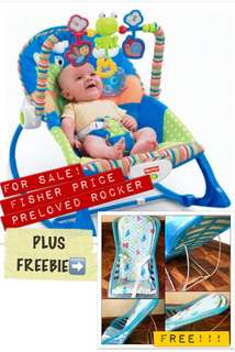 Fisher Price Blue Rocker with Free recliner (for bath or sleep)