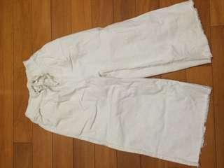 🚚 挺版白寬褲