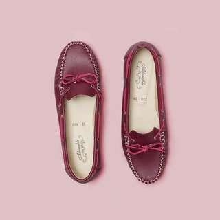 Scarlet Flatshoes Maroon