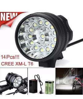 34000Lumens 14 x CREE XM-L T6 LED Bicycle Cycling Light Waterproof With battery
