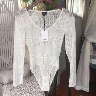 BARDOT || lace bodysuit