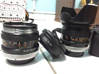 Canon FD 28mm f2.8 & 50mm f1.8 Manual Lens