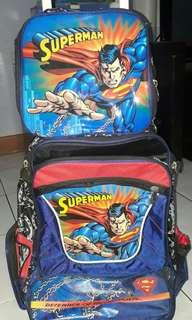 Stroller Bag Superman Design with Lunch Bag