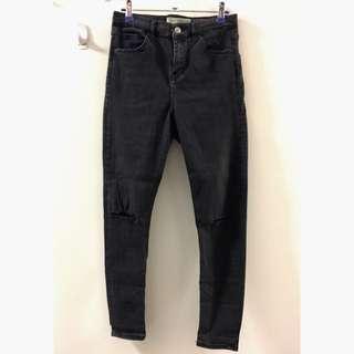 Topshop Moto Jamie Ripped Jeans - Black