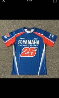 2018 new motorcycle motogp Sweat quick dry summer casual T-shirt short sleeve Fit For Yamaha motogp 25 MAVERICK VINALES T-shirt