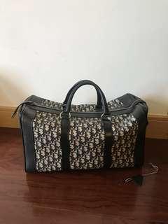 💯真品 很新帶鎖匙 Auth Christian Dior rare Vintage travel bag 復古經典老花醫生袋旅行袋