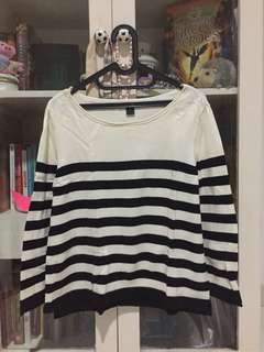 H&M sweater stripes