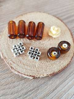 Assorted beads for craft project