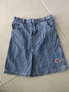 Poney Jeans Skirt