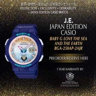 CASIO JAPAN EDITION BABY G X AQUA PLANET BGA250AP-2AJR