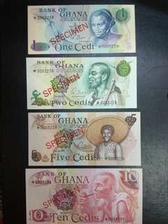 Bank of Ghana specimen set