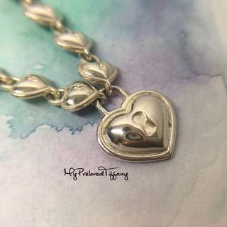 36d643693 Vintage Authentic Tiffany & Co. Heart Keyhole Padlock Silver Necklace 33g