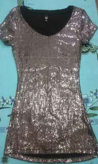 Sequined Shirt Dress/Party Dress