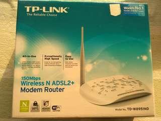 TP LINK 150Mbps Wireless N ADSL2+ Modem Router