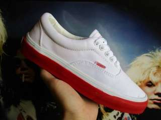 Vans era WTAPS white red