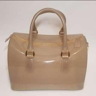 Furla Candy Bag Khaki 手挽袋 90% New 九成新