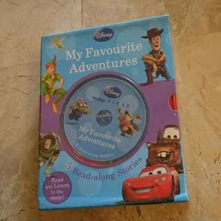 Disney My Favorite Adventures 5 Books Box Set With Read Along CD
