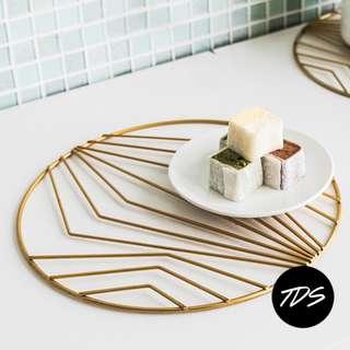 ⚡️[Instock!] Glimm Nordic Geometric Pot Holder in Gold