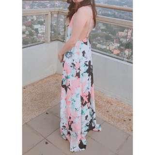 Low back floral dress