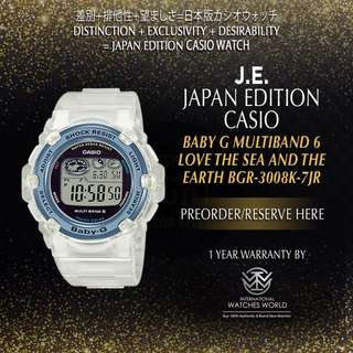 CASIO JAPAN EDITION BABY G MULTIBAND 6 LOVE THE SEA AND THE EARTH BGR3008K-7JR