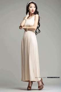 Mesh Upper Long Dress