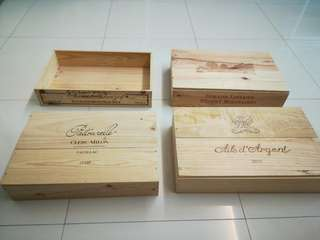 4 for $ 55 Brand new ready stock Wooden Wine Crates/ wine box