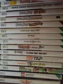 Wii games 10sgd each