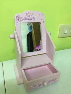 🚚 紫色夢幻 梳妝鏡 附小抽屜