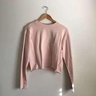 Supre Pastel Pink Cropped Jumper