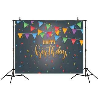 Birthday Photobooth Backdrop