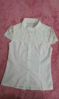 Lace Button Down Kashieca Top