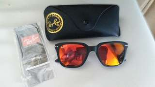 Original rayban RB 4232 BLACK FRAME ORANGE POLARISE LENS