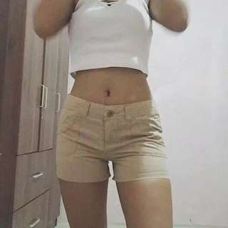 Nude Low Rise Shorts & Skirt
