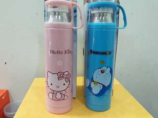 Hello kitty/doremon stainless vacuum cup