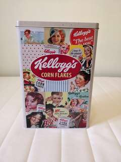 Kellogg's corn flakes metal tin