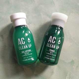 AC clean up toner & gel lotion 15ml