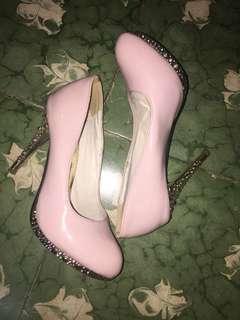 High heels 11cm Soft Pink ukuran 39