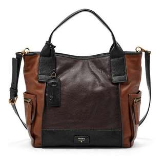Authentic Fossil Emerson Large Brown