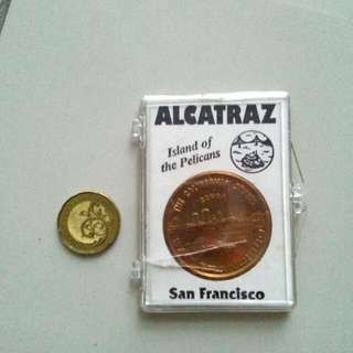 Alcatraz Island Of The Pelicans San Francisco Token
