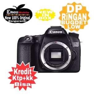 Canon EOS 70D Body Only Wifi Resmi-Kredit Dp 1jtaan call/wa;081905288895